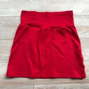 American Apparel Red Mini Skirt